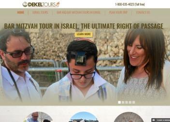 אתר אינטרנט Dekel Tours